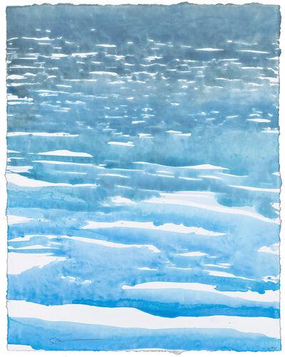 Gottfried Salzmann, 'Vagues bleues', 2019