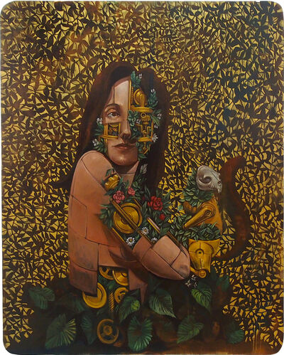 Pixel Pancho, 'Woman with Squirrel', 2018
