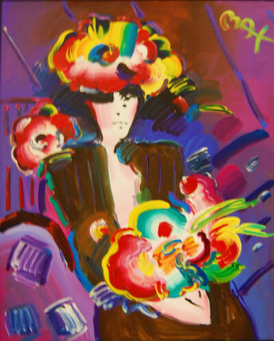 Peter Max, 'Lady with Flowers', 2000