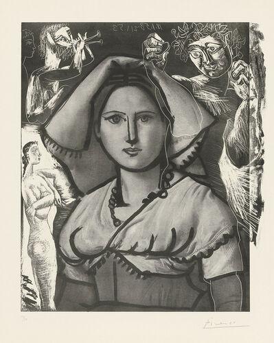 Pablo Picasso, 'L'Italienne (d'après le tableau de Victor Orsel)', 1953