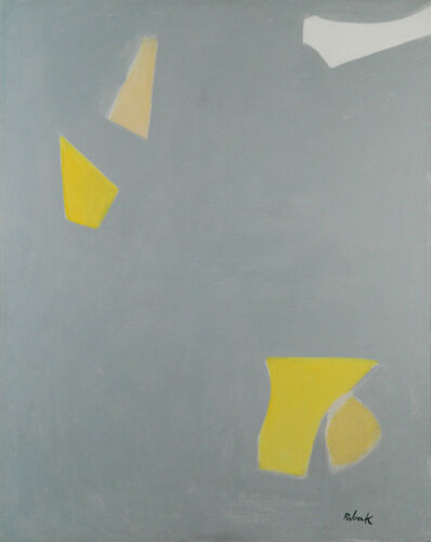 Louis Ribak, 'Grey, White and Yellow Geometric', c.1960's