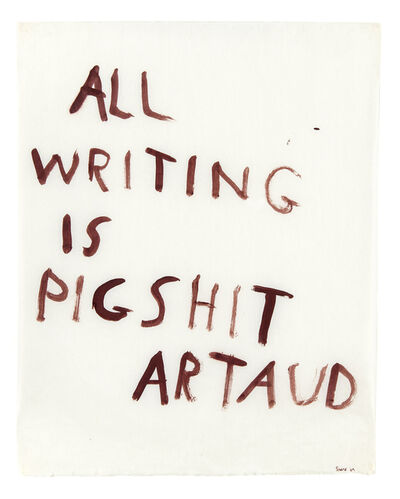 Nancy Spero, 'All writing is pigshit', 1970