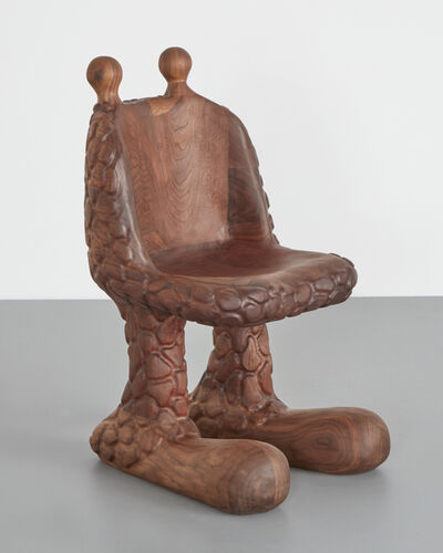 "The Haas Brothers, '""Giraffaello Sanzio Da Urbino"" sculptural chair in solid, carved walnut. Designed and made by The Haas Brothers, USA', 2019"