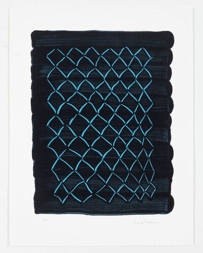 Mona Hatoum, 'Untitled (fence, blue)', 2018