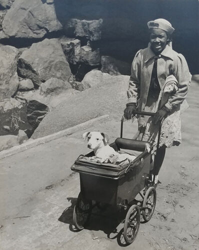 John Albok, 'Harlem (Girl with Dog in Baby Carriage)', 1934