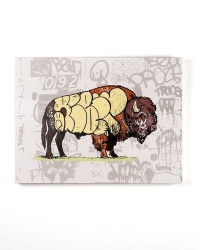 Whatisadam (WIA), 'Graffiti Buffalo White', 2020
