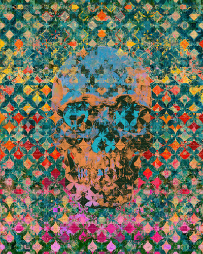 Ryan Bradley, 'Memento Mori (Blue/Orange)', 2020