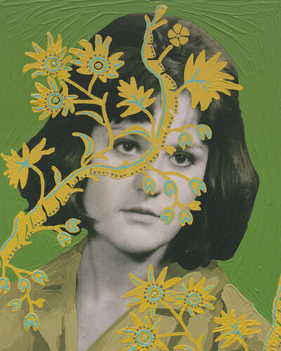 Daisy Patton, 'Untitled (Woman with Yellow Vines and Green Background)', 2018
