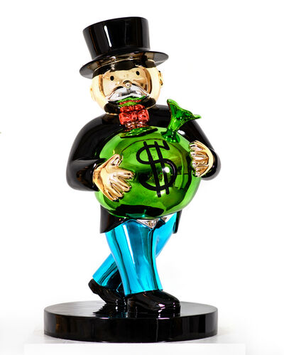 Alec Monopoly, 'Monopoly Holding $ Bag (Close To Heart)', 2019