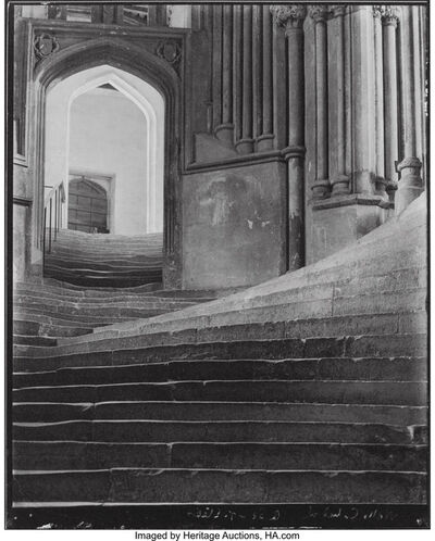 Frederick Henry Evans, 'A Sea of Steps, Wells Cathedral, Steps to Chapter House', 1903