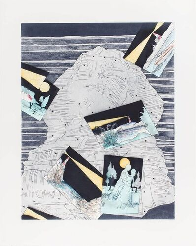 Susan Hall, 'Night Light, Ed. 21/78 Signed Aquatint Etching California Artist', 1970-1979