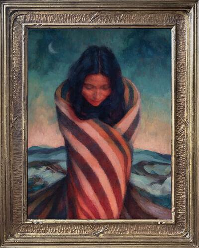 """Sean Diediker, 'Fireside (after Joseph Henry Sharp painting titled """"Daylight Firelight"""")', 2021"""