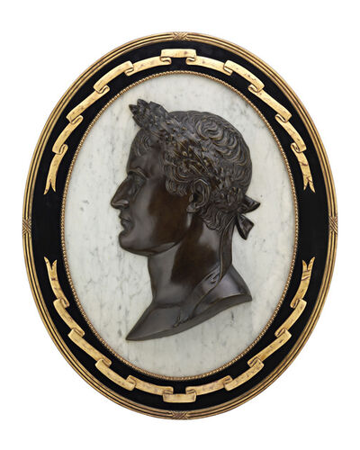 Unknown Artist, 'NAPOLÉON PORTRAIT BRONZE AND MARBLE PLAQUE', 19th Century