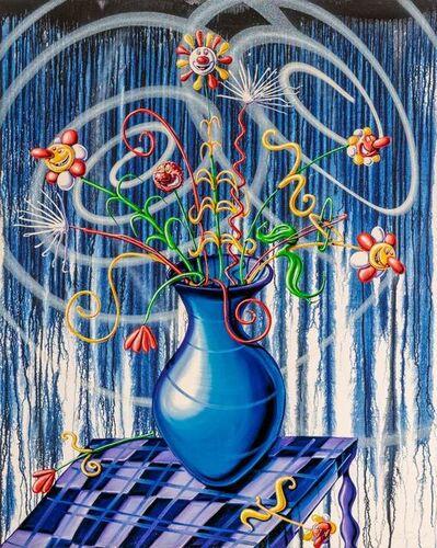 Kenny Scharf, 'Flores Blue', 2020