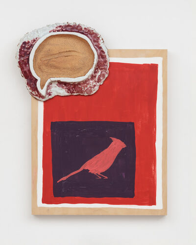 Pam Lins, 'Northern Cardinal Swipe Fossil', 2019