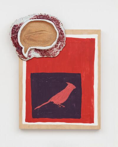 Pam Lins, 'Northern Cardinal Swipe Fossil', 2019