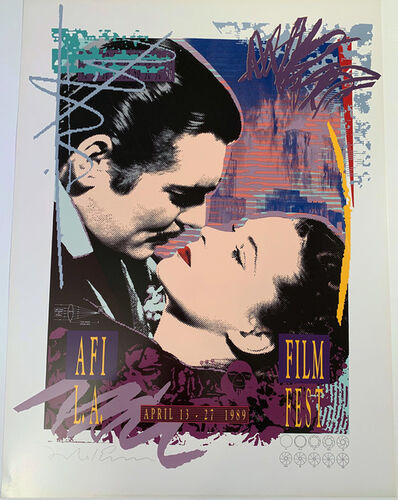 Richard Duardo, 'AFI LA Film Fest, 22 color Hand Separated Solid Plate Lithographic Poster , HOLIDAY SALE $50 OFF THRU MAKE OFFER', 1989