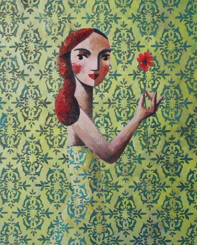 Didier Lourenço, 'Red Flower', 2021