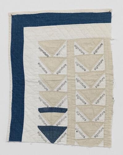 Kasper Bosmans, 'Signature Quilt III', 2018