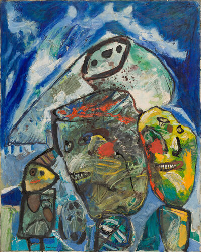 Lucebert, 'Mother, Child and Father', 1962
