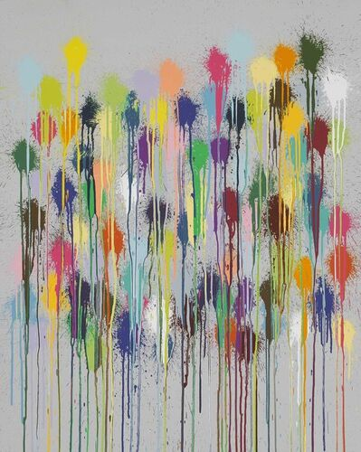 Ian Davenport, 'Colour Splat Fizz', 2019