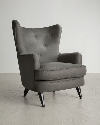 "Joaquim Tenreiro, 'Gray lounge chair (seat height: 18.25""), designed by Joaquim Tenreiro', ca. 1954"