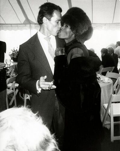 Andy Warhol, 'Arnold Schwarzenegger with Grace Jones at his wedding to Maria Shriver, Hyannis Port, MA,', 1986