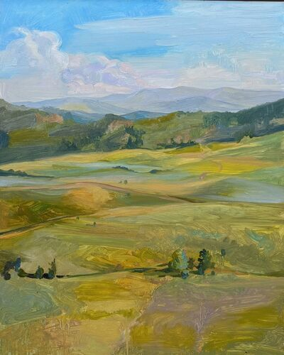 CHARIS J. CARMICHAEL BRAUN, 'View Of The Meadow And The Rockies Beyond', 2018