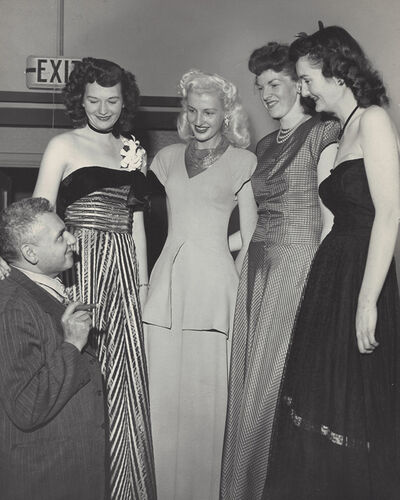 Weegee, 'Women Basketball Players and Weegee', ca. 1950