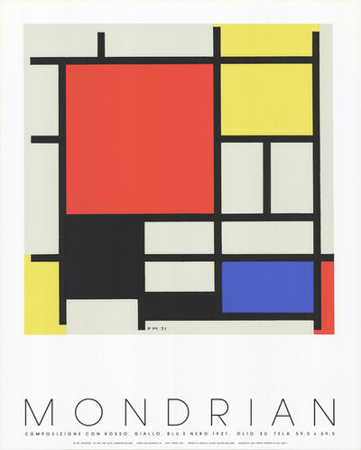 Piet Mondrian, 'Composition with red, yellow, blue', 1987