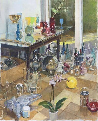 David Summers, 'Studio Still Life with Golden Bowl, Plastic Bag, Balloon, Orchid', 2017