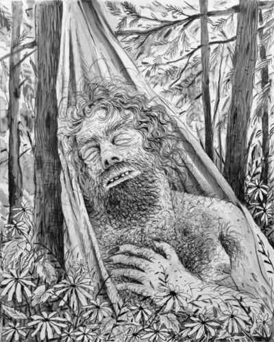 Rebecca Morgan, 'Sleeping Mountain Man in a Hammock', 2016
