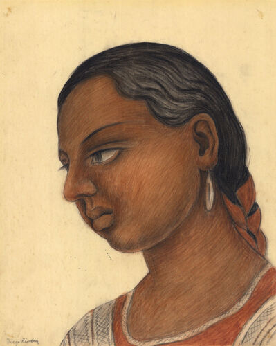 Diego Rivera, 'Portrait of A Young Girl.', ca. 1938