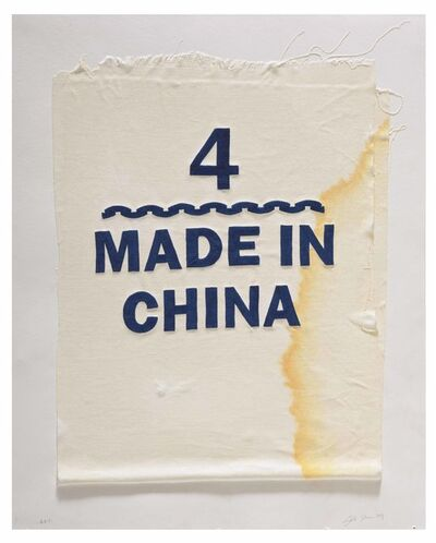 Analia Saban, 'Size 4, Made in China, Clothing Tag', 2019