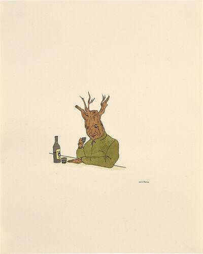 Marcel Dzama, 'Treeman with Drink', 2000