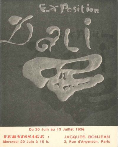 "Salvador Dalí, 'Invitation to ""Exposition Dalì""', 1934"