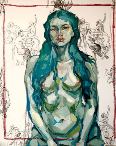 Elly Smallwood, 'Self Portrait with Bouguereau', 2020