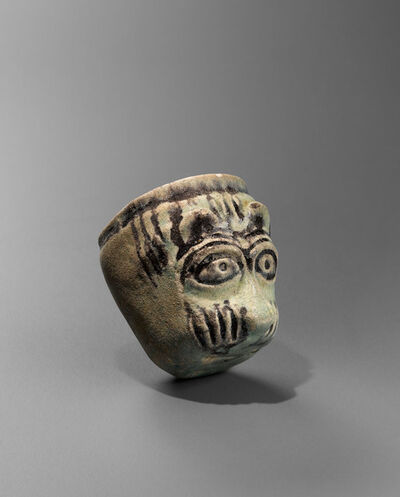 Unknown, 'Ancient Near Eastern Faience Feline Headed Cup',  Middle Bronze Age (17th-16th century B.C.)