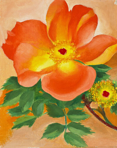 Georgia O'Keeffe, 'Austrian Copper Rose IV', 1958