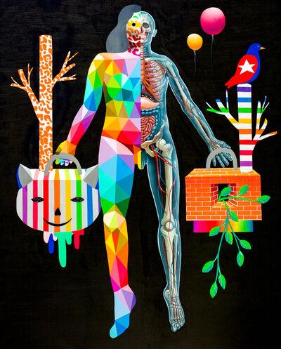 Okuda San Miguel, 'Okuda + Nychos: Body Metamorphosis', 2018