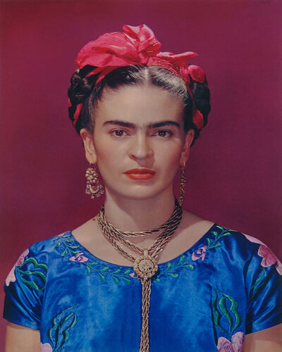Nickolas Muray, 'Frida in blue dress', 1939