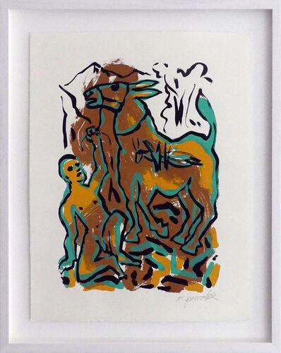 A.R. Penck, 'Das Meer, der liebe Gott und das Muli', 1995