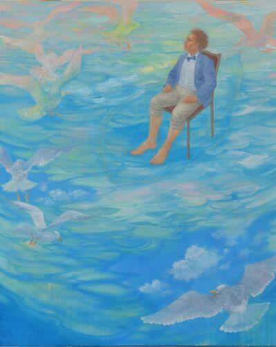 Hiromi Sengoku, ' An explorer and his blue boat', 2018