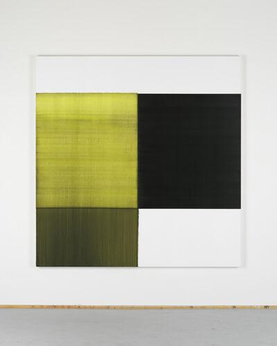 Callum Innes, 'Exposed Painting Bright Green Lake', 2018