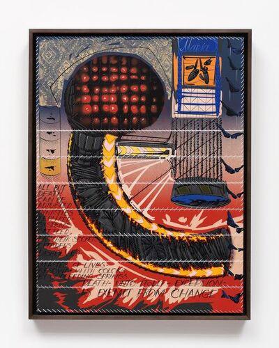 Lari Pittman, '21st Century Sampler with 19th Century Poetry', 2015