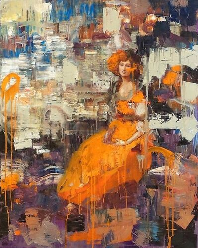 Rimi Yang, 'Lady in Orange Dress', 2010