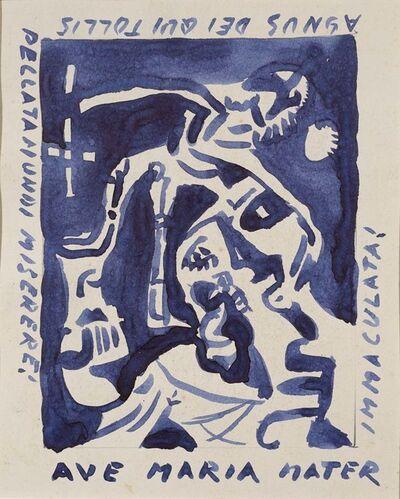 Erwin Blumenfeld, 'Brush Drawing, Amsterdam', 1920s