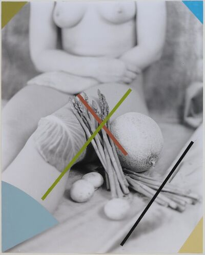 George Woodman, 'Alexandra Crossed by Asparagus', 2011