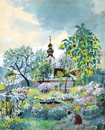 Oskar Laske, 'Farmer's garden in Lofer', 1943