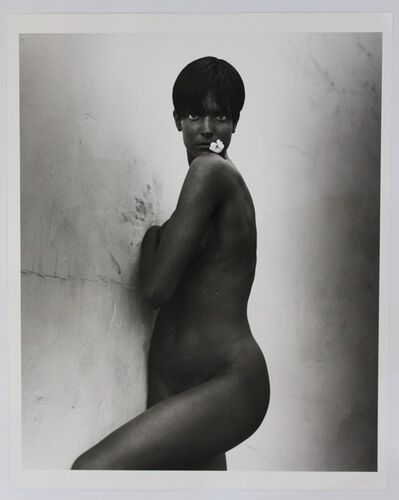 Herb Ritts, 'Stephanie with Flower,LosAngeles', 1989